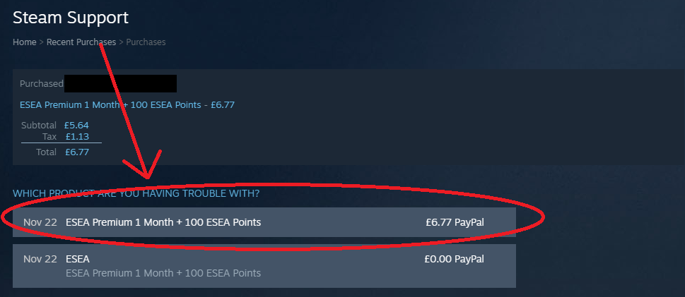 I bought ESEA Premium through Steam but my account is not Premium